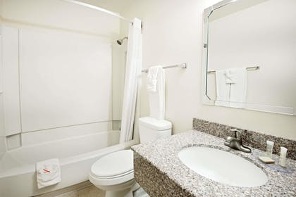 Bathroom | Super 8 by Wyndham Las Cruces/White Sands Area