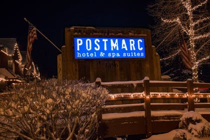 Hotel Front - Evening/Night | POSTMARC Hotel and Spa Suites