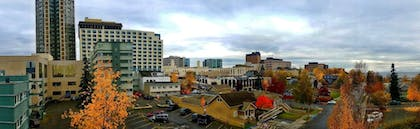 View from Hotel | Anchorage Grand Hotel