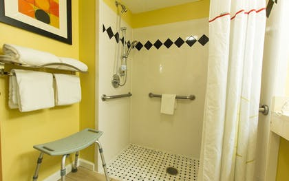Bathroom Shower | Hawthorn Suites by Wyndham Sterling Dulles