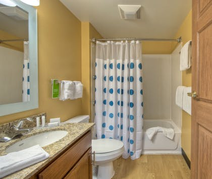 Bathroom | TownePlace Suites by Marriott Charlotte Univ. Research Park
