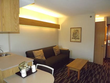 Living Area | Microtel Inn & Suites by Wyndham Ames