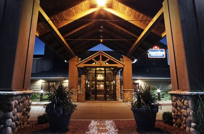 Hotel Entrance | AmericInn by Wyndham Grimes