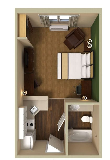 Floor plan   Extended Stay America Miami - Airport - Doral - 87th Ave S.