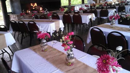 Outdoor Banquet Area | The Smokehouse Lodge and Cabins