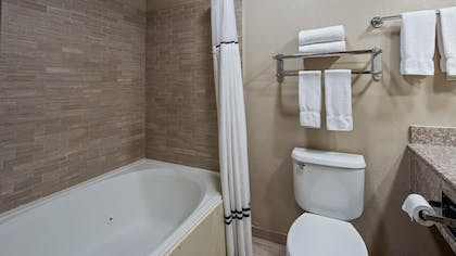 Bathroom | Best Western Plus Lubbock Windsor Inn