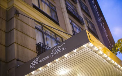 Hotel Front - Evening/Night | The Paramount Hotel
