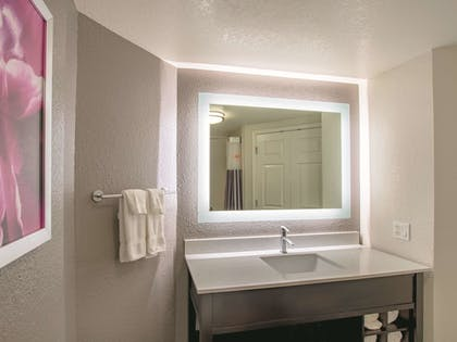 Bathroom | La Quinta Inn & Suites by Wyndham Fort Worth City View