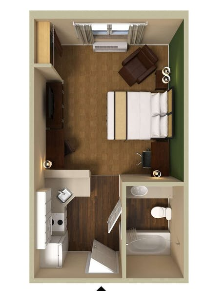 Floor plan | Extended Stay America - Baltimore - BWI Airport – Aero Dr.