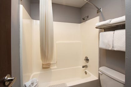 Bathroom Shower | New Victorian Inn & Suites in Sioux City, IA