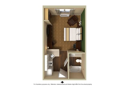 Floor plan | Extended Stay America - Salt Lake City - Union Park