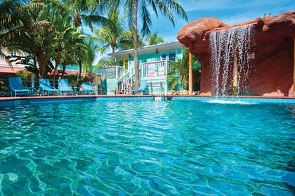 Pool Waterfall | The Lighthouse Resort Inn & Suites