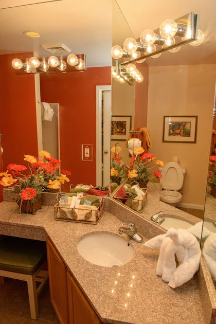 Bathroom | Gatlinburg Town Square by Exploria Resorts