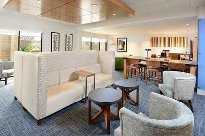 Lobby Sitting Area | Holiday Inn Express Hotel and Suites Research Triangle Park