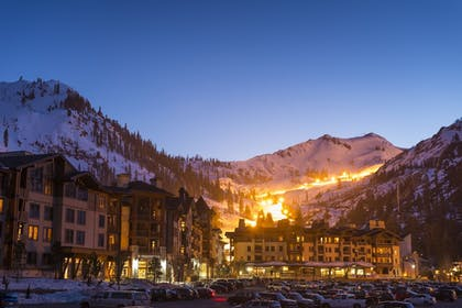 Hotel Front - Evening/Night   The Village at Squaw Valley