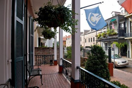 Porch   Le Richelieu in the French Quarter