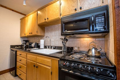 In-Room Kitchen | Kandahar Lodge at Whitefish Mountain Resort