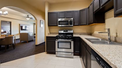 In-Room Kitchen | Best Western Plus Hill Country Suites