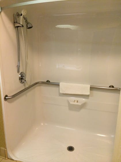 Bathroom Shower | Manchester Inn and Suites