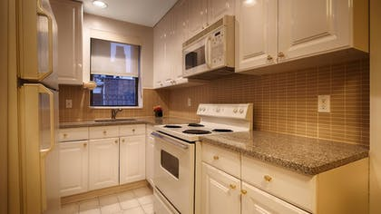 In-Room Kitchen | Best Western Plus Hospitality House Apartments