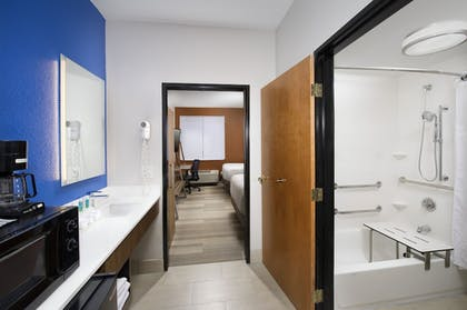 In-Room Amenity | Holiday Inn Express & Suites San Antonio-Dtwn Market Area