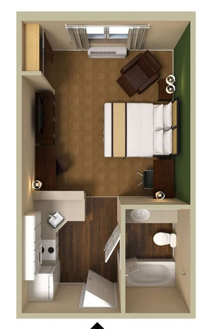 Floor plan | Extended Stay America-San Diego-Carlsbad Village by the Sea