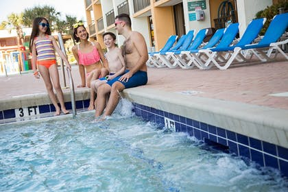 Outdoor Spa Tub | The Caravelle Resort