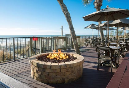 Terrace/Patio | Compass Cove Resort