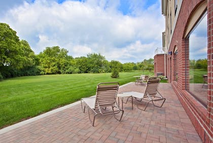 Terrace/Patio   Holiday Inn Express Hotels and Suites Dayton North Tipp City