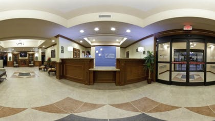 Reception   Holiday Inn Express Hotels and Suites Dayton North Tipp City