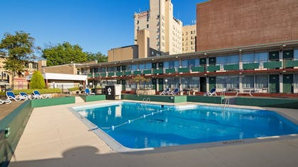 Outdoor Pool | Genetti Hotel, SureStay Collection by Best Western