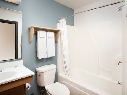 Bathroom | WoodSpring Suites Cleveland Airport