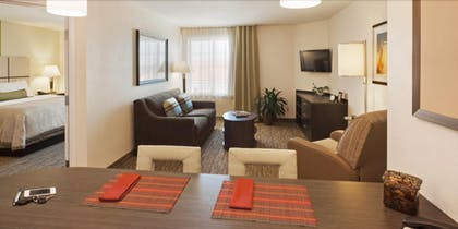 Living Area | Candlewood Suites San Angelo TX
