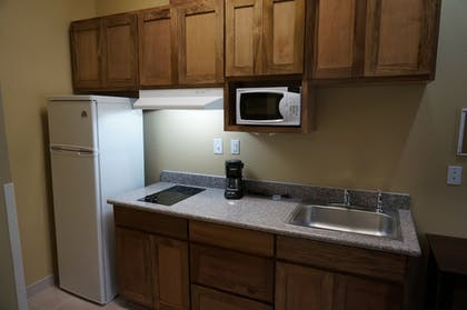In-Room Kitchen | The Bungalows Hotel & Event Center