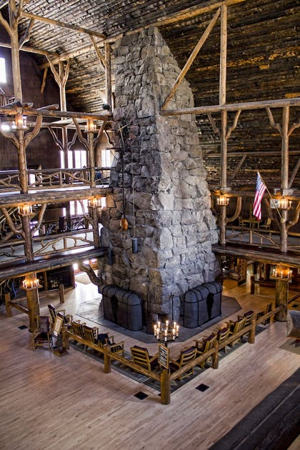 Lobby | Old Faithful Inn - Inside the Park