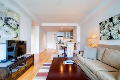 Living Area | Global Luxury Suites at Kendall Square