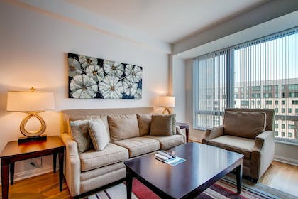 Living Room | Global Luxury Suites at Kendall Square
