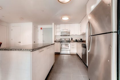 In-Room Kitchen | Global Luxury Suites at Kendall Square