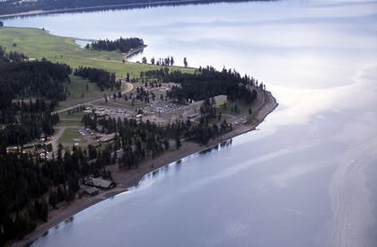 Aerial View | Lake Hotel and Cottages - Inside the Park