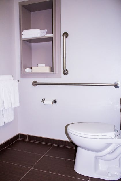 Bathroom | Microtel by Wyndham Penn Yan Finger Lakes Region
