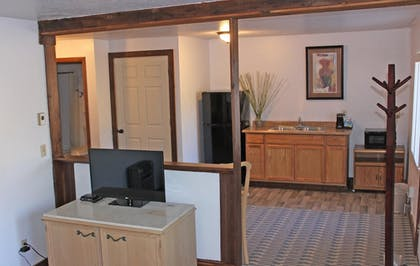 In-Room Kitchenette | The Rustic Inn