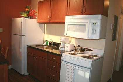 In-Room Kitchen | Affordable Suites of America Quantico