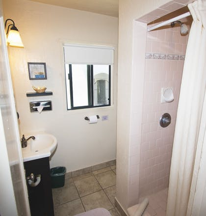 Bathroom Shower | Capitola Venetian Hotel