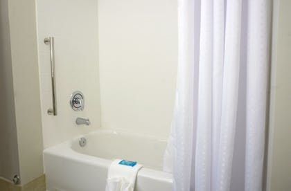 Bathroom | Holiday Inn Express & Suites Omaha - Millard Area