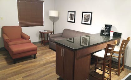 Living Area | Affordable Suites of America Portage