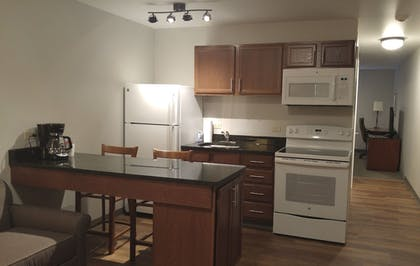 In-Room Kitchen | Affordable Suites of America Portage