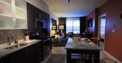 In-Room Kitchen | 1919 Clarendon by Executive Apartments