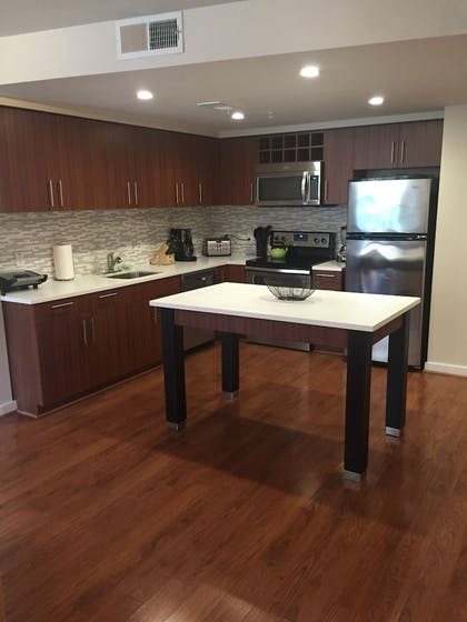 In-Room Kitchen | Sedona-Slate by Executive Apartments