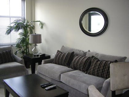 Living Room | Gramercy by Executive Apartments