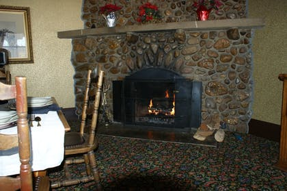 Fireplace | The Historic Sheridan Inn